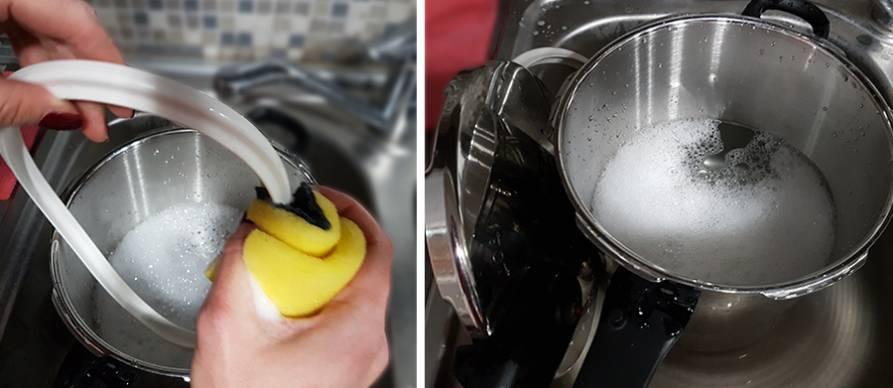 Čišćenje ekspres lonca iznutra