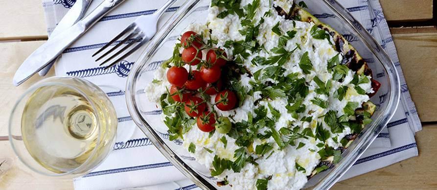 Salata od grilovaog povrća i sira