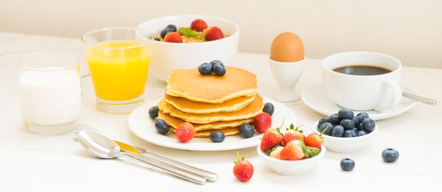 proteinske palačinke servirane za doručak