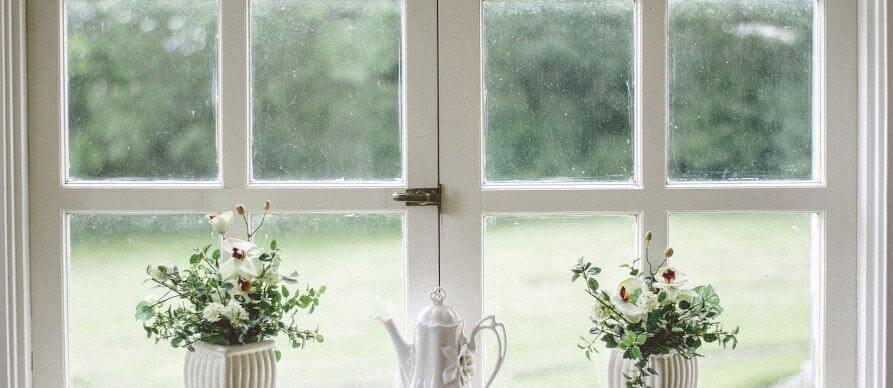 pogled kroz prozor na livadu